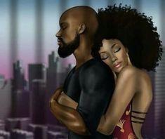 Black Couple Art, Art Love Couple, Image Couple, Black Love Couples, Sexy Black Art, Black Love Art, Black Girl Art, Art Girl, Black Art Painting