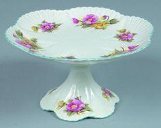 "8: Shelley China Begonia pattern Cake STand, 5"" h. x 9"" : Lot 8"