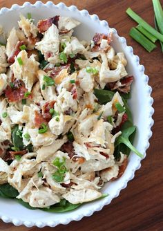 Paleo Chicken Salad with Bacon and scallions - dairy free, soy free, paleo and whole30 approved chicken salad made with homemade Paleo mayo.