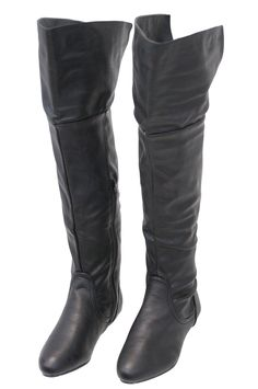 ★NEW★ Women's Black Convertible Thigh High Boots w/Flat Heel  #BLC32800K #JaminLeather #Deals