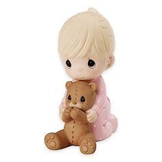 Precious Moments® Praying Girl with Teddy Bear Figurine