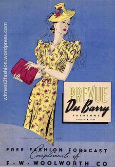 Du Barry Fashions, August 1939 | witness2fashion