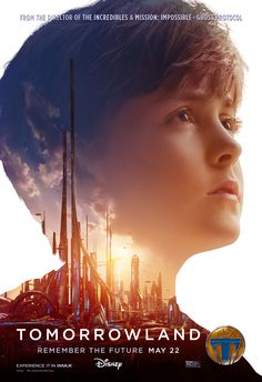 New 'Tomorrowland' posters highlight the heroes of Brad Bird's Disney film, while the IMAX one-sheet focuses on the eponymous setting. Tomorrow Land, Internet Movies, Movies Online, Disney Films, Disney S, Affinity Photo, 2015 Movies, Imdb Movies, Poster S