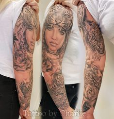 Feminine tattoo sleeve