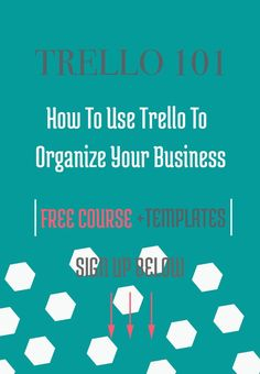 I'm SO excited to share this FREE course Trello 101: How To Use Trello To Organize Your Business. I've created this course to show you how to use Trello to manage your To-Do Lists, CRM (customer relationship management), Social Media & Editorial Calendar, and Project Management.Plus 6 Trello Template Boards to get you started.