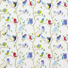 Products   Harlequin - Designer Fabrics and Wallpapers   What A Hoot (HWO03223)   What a Hoot Fabrics