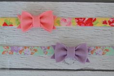 Spring Bow Set of Two Elastic Headbands for Women, Girls and Babies