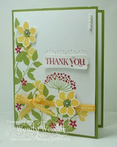 Stamps: Summer Silhouettes, Curly Cute Paper: Lucky Limeade, Whisper White Ink: Lucky Limeade, Daffodil Delight, Raspberry Ripple