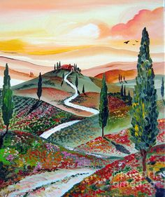 Winding Country Road Among The Hills of Tuscany