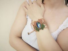 Labradorite Macrame Bracelet Adorned With Hematite Round Beads   Etsy Macrame Bracelets, Round Beads, Labradorite, Gemstone Rings, Handmade Jewelry, Gemstones, Etsy, Handmade Jewellery, Gems