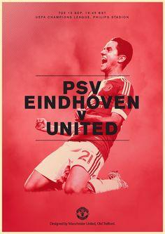 Match poster. PSV v Manchester United, 15 September 2015. Designed by @Manchester United