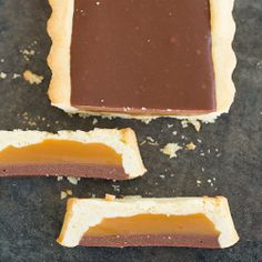Twix Tart Recipe | Brown Eyed Baker ... A shortbread crust filled with creamy caramel and topped with milk chocolate ganache. All from scratch.  I would make mine with dark chocolate ganache.
