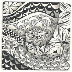 Enthusiastic Artist: CREZN'T - a new tangle!