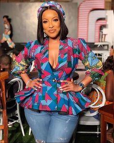 ankara mode 2019 Trendy and Lovely Ankara Styles For Cute African Ladies Trendy Ankara Styles, Ankara Dress Styles, Ankara Tops, Blouse Styles, Ankara Blouse, African Fashion Ankara, Latest African Fashion Dresses, African Print Fashion, African Prints