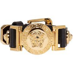 Versace Jewelry, Luxury Jewelry, Gold Leather, Leather Jewelry, Versace Brand, Versace Versace, Key Jewelry, Jewelry Bracelets, Fashion Bracelets