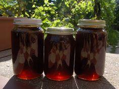 Marka boszikonyhája: Fenyőrügy szirup Mason Jar Wine Glass, Ketchup, Preserves, Recipies, Food And Drink, Mugs, Drinks, Tableware, Health
