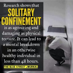 Stop solitary confinement!