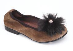 Bailarina de piel para niña, muy cómoda y original. Roly Poly Shoes & Boots. Calzado Infantil.