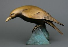 Visit WaterWorks Gallery in Friday Harbor WA to view Bowed Raven by Georgia Gerber. Stop by the gallery in Friday Harbor to see more Sculptures by Northwest Artists. Crow Art, Raven Art, Bird Art, Bird Sculpture, Animal Sculptures, Abstract Sculpture, Cannon Beach Oregon, Georgia, Organic Art