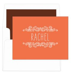 Mango Woodcut Scroll Foldover Note Cards
