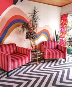 What is happy design? The new summer 2018 Trend Memphis Design, Inspiration, Interior Desig Colorful Interiors, Interior, Colorful Interior Design, Home Decor, Room Inspiration, House Interior, Room Decor, Interior Design Blog, Interior Design