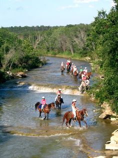 Riding Fall Creek at Camp Fire's Camp El Tesoro in Granbury, Texas