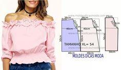 "147 Beğenme, 2 Yorum - Instagram'da Fátima Carvalho Lopes (@moldes_dicas_moda): ""http://moldesdicasmoda.com/blusa-rosa-feminina/ #moldesdicasmoda #blusas #patternmaking #patrones…"""