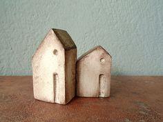 Casa di argilla in miniatura, casa casetta rustica in ceramica finto invecchiato…