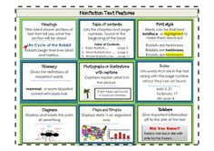 Nonfiction Text Feature Study - like the create your own...