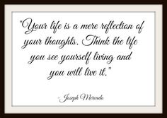 Your Life Is A Mere Reflection - Inspirational Thinking Calligraphy - FREE Instant Digital Download Delivery! by MasterMindWisdom on Etsy