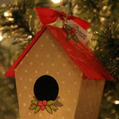 Cute template for making birdhouses