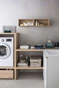The #laundry room takes shape, one piece of furniture at a time. Laundry Room Design, Floating Nightstand, Corner Desk, House, Furniture, Home Decor, Floating Headboard, Corner Table, Decoration Home
