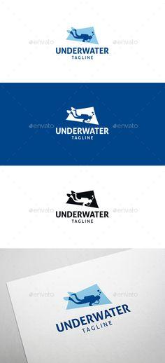 Underwater Diving Logo Template Vector EPS, AI Illustrator. Download here: https://graphicriver.net/item/underwater-diving-logo/17469059?ref=ksioks