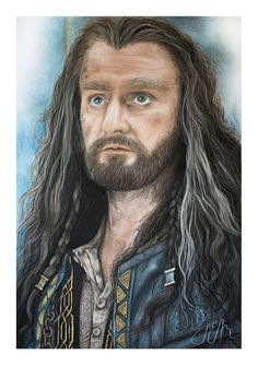 My drawing of #Thorin from the scene on top of Ravenhill in #botfa! @RCArmitage @TheHobbitMovie @MiddleEarthNews wow fan art at its best
