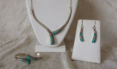 Vintage Navajo Signed Gene Natan Sterling Spiderweb Turquoise Coral Jewelry Set