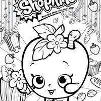 Desenho de Shopkins maçã para colorir