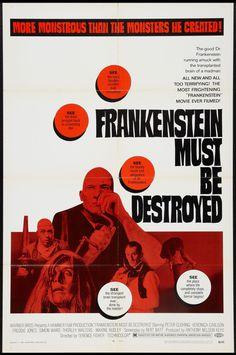 Frankenstein Must be Destroyed | 1969 | One sheet poster