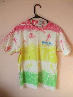 VTG Men's 80's #90's Maui Rainbow Surf TShirt by #NIGHTWERKKVINTAGE, $24.00 #CLOTHING #SHOP #VINTAGE #MENS #SALE