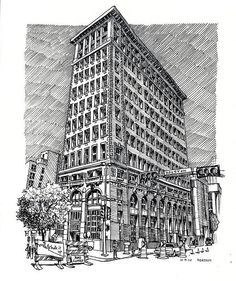 HEASTON, Paul, American artist: -- 'South Texas Building' -- 9 OCT 2010