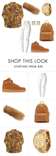 """""""Untitled #2723"""" by ceairrarenee on Polyvore featuring NIKE, (+) PEOPLE, Overland Sheepskin Co., MCM, Stussy, Michael Kors and Cartier"""