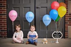 kids with favorite colors of balloons
