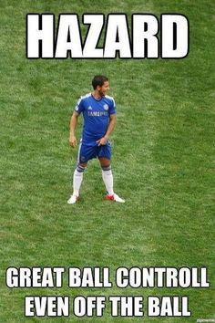 Belg zawsze najlepiej kontroluje piłkę • Eden Hazard trzyma się za jaja na boisku • Wejdź i zobacz śmieszne zdjęcie Edena Hazarda >>