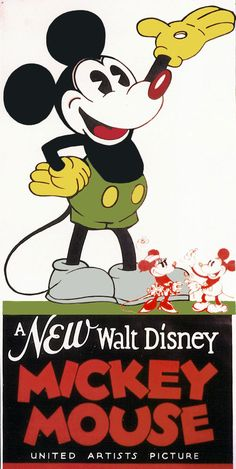 Mickey Mouse Vintage Poster
