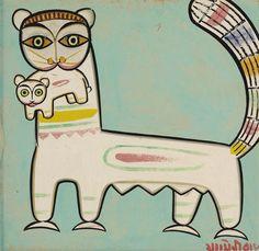 JAMINI ROY (1887-1972) UNTITLED (CATS)