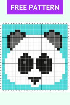 Save this fun, easy Crochet C2c Pattern, Crochet Chart, Crochet Blanket Patterns, Pixel Crochet Blanket, Scarf Patterns, Hand Crochet, Tiny Cross Stitch, Cross Stitch Animals, Cross Stitch Embroidery