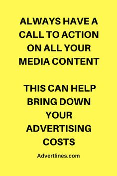 Always have a call to action on all your media content. This can help bring advertising costs down. #SocialMedia  #Digital  #Strategy  #blogging #bloggingtip #marketingtip #marketing #Cardiff