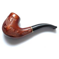 "Exclusive Wooden pipe-Smoking Pipe/Pipes-Tobacco Pipe/Pipes of Pear Root, Wood Pipe Carved Pipe ""VERSAILLES"" Bent Smoking Pipes"