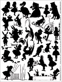 Alice Silhouettes Collage Sheet