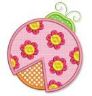 **Limited Time** FREE Flower LadyBug Applique 4x4 5x7