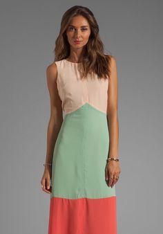 Jasmine Chevron Colorblocked Maxi Dress in Cream - Lyst. 114